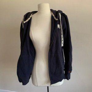 Roots Navy zip Up hoodie oversized xs
